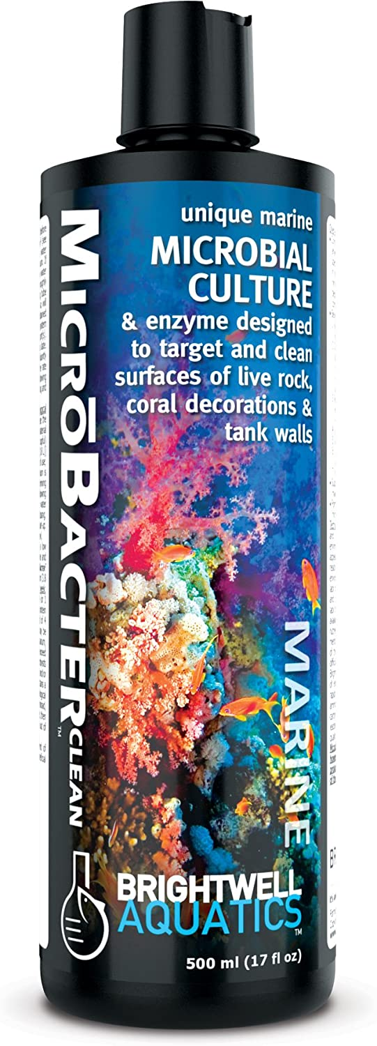 Brightwell Aquatics MicroBacter Clean - Microbial Culture & Enzyme Blend Designed to Target & Clean Surfaces of Aquatic Tanks