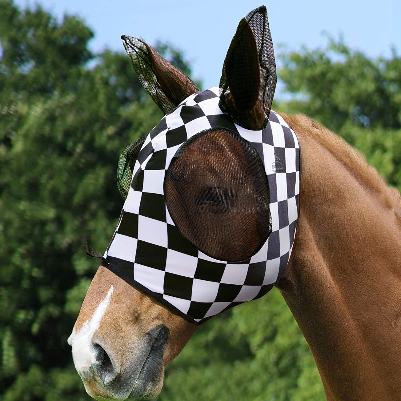 Harrison Howard Super-fit Lycra Horse Fly Mask