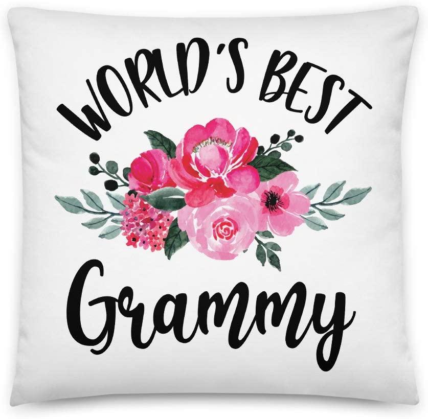 World's Best Grammy All-Over Print Basic Pillow | Cute Grammy Pillow | Grandma Pillow | Nana Gift Pregnancy Announcement | New Grandma | Gift for Her | Happy Mother's Day
