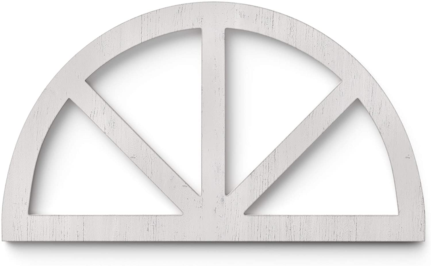 Barnyard Designs Rustic Wood Cathedral Arch Window Frame, Decorative Arched Window Pane Wall Art, Vintage Farmhouse Country Decor, White, 30