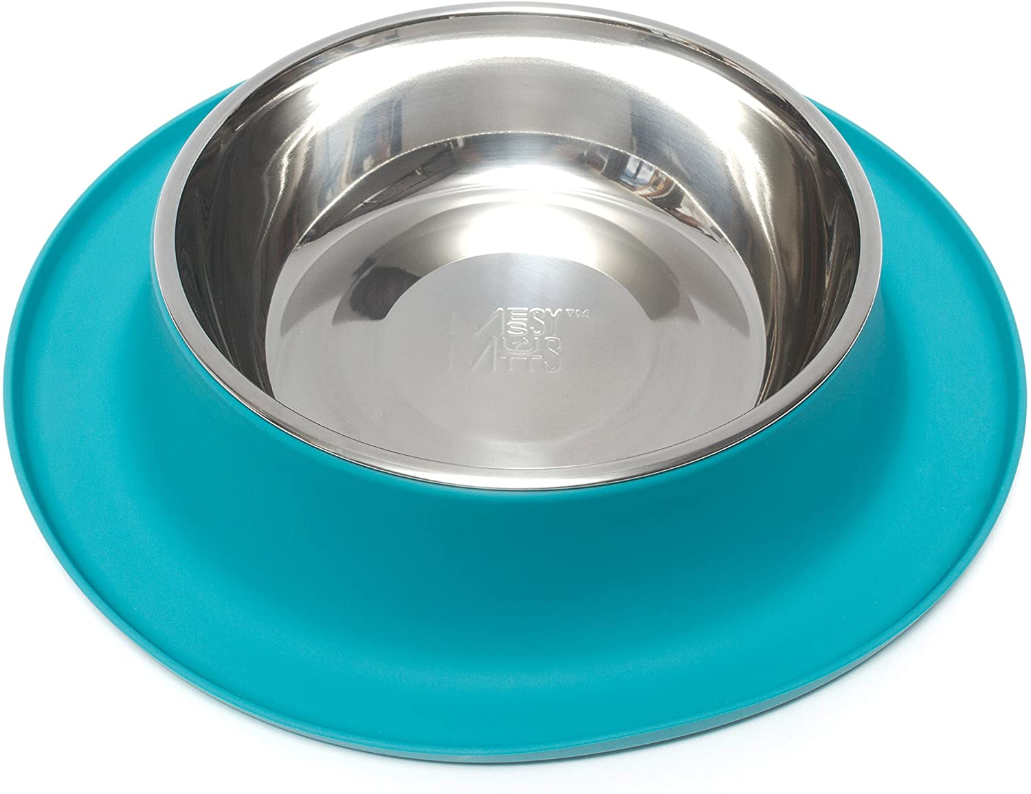 Messy Mutts Single Silicone Feeder with Stainless Bowl
