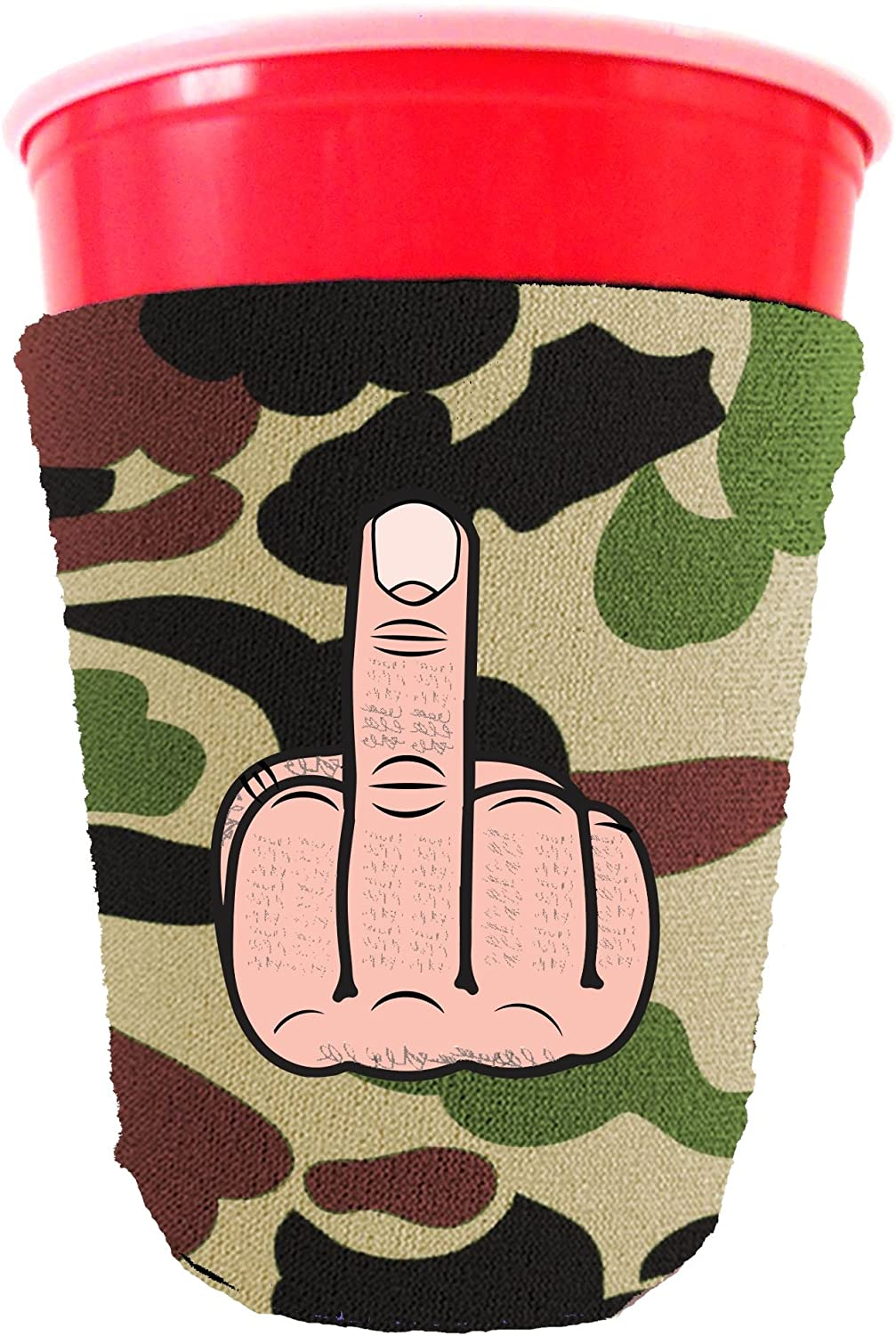 Coolie Junction Middle Finger Funny Party Cup Coolie Camo