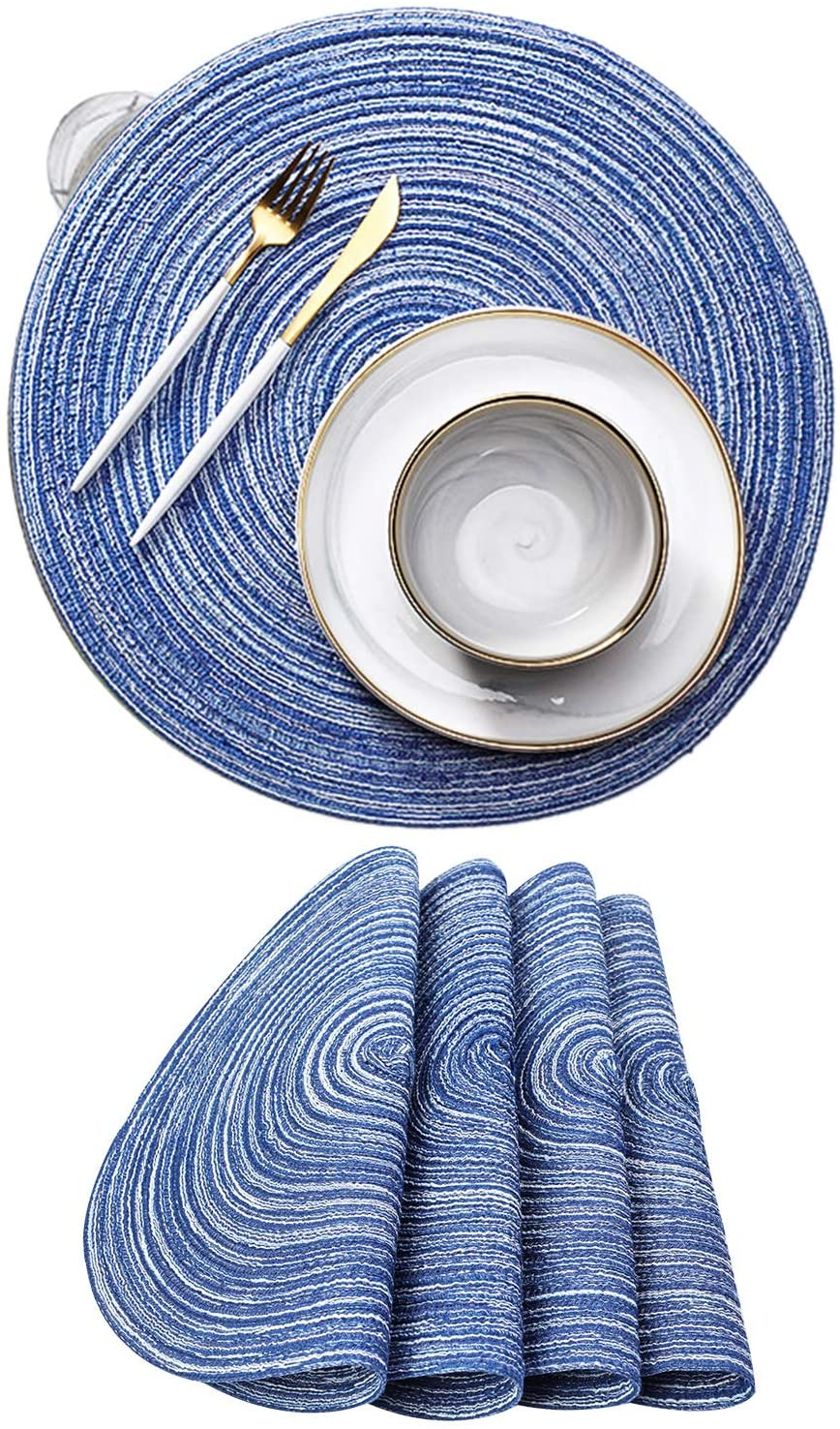 YouthGo Placemats Washable Dining Table Placemats Woven Set of 4 Kitchen Table Mats