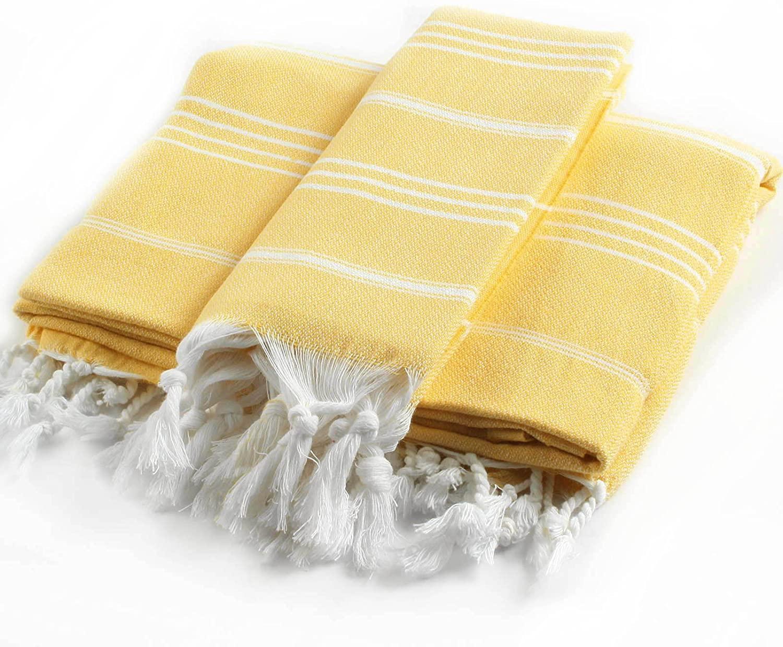Cacala 2 Pieces Pestemal Turkish Towel Set - 1 Bath Towel 37
