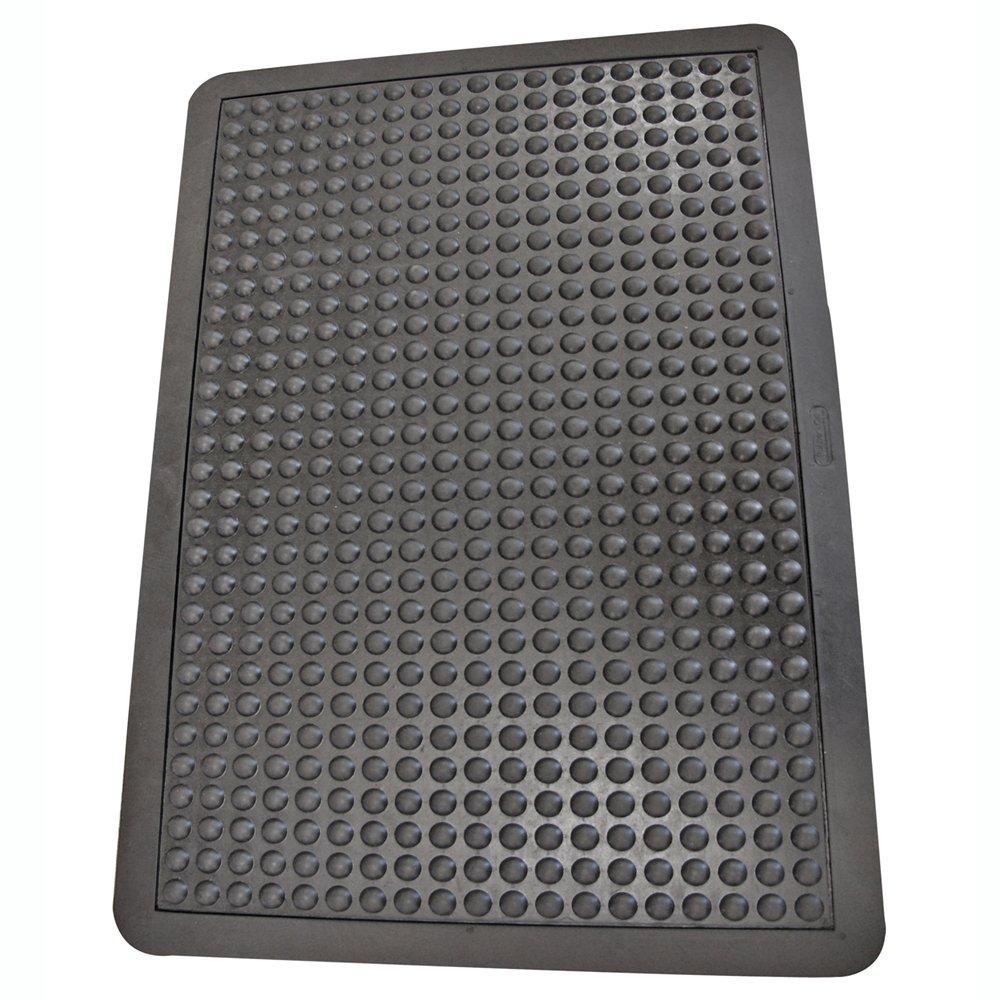 Rubber-Cal 03_184_ZWBK Bubble Top Anti-Fatigue Rubber Floor Mat, 5/8
