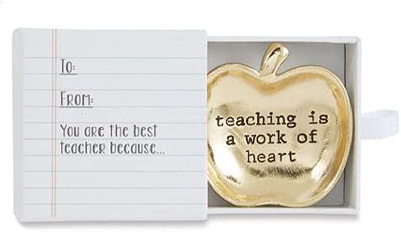 Apple or Star Teacher Mini Dish (Gold Apple)