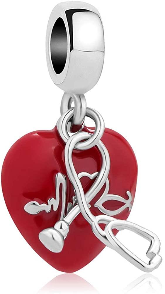 CharmSStory Nurse Charm Bead for Bracelet