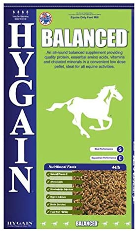 Hygain Balanced Contains Quality Protein, Essential Amino acids, Along with Balanced Levels of Critical Macro/Micro Trace Minerals in a Concentrated Pellet, Ideal for All Equine Activities.