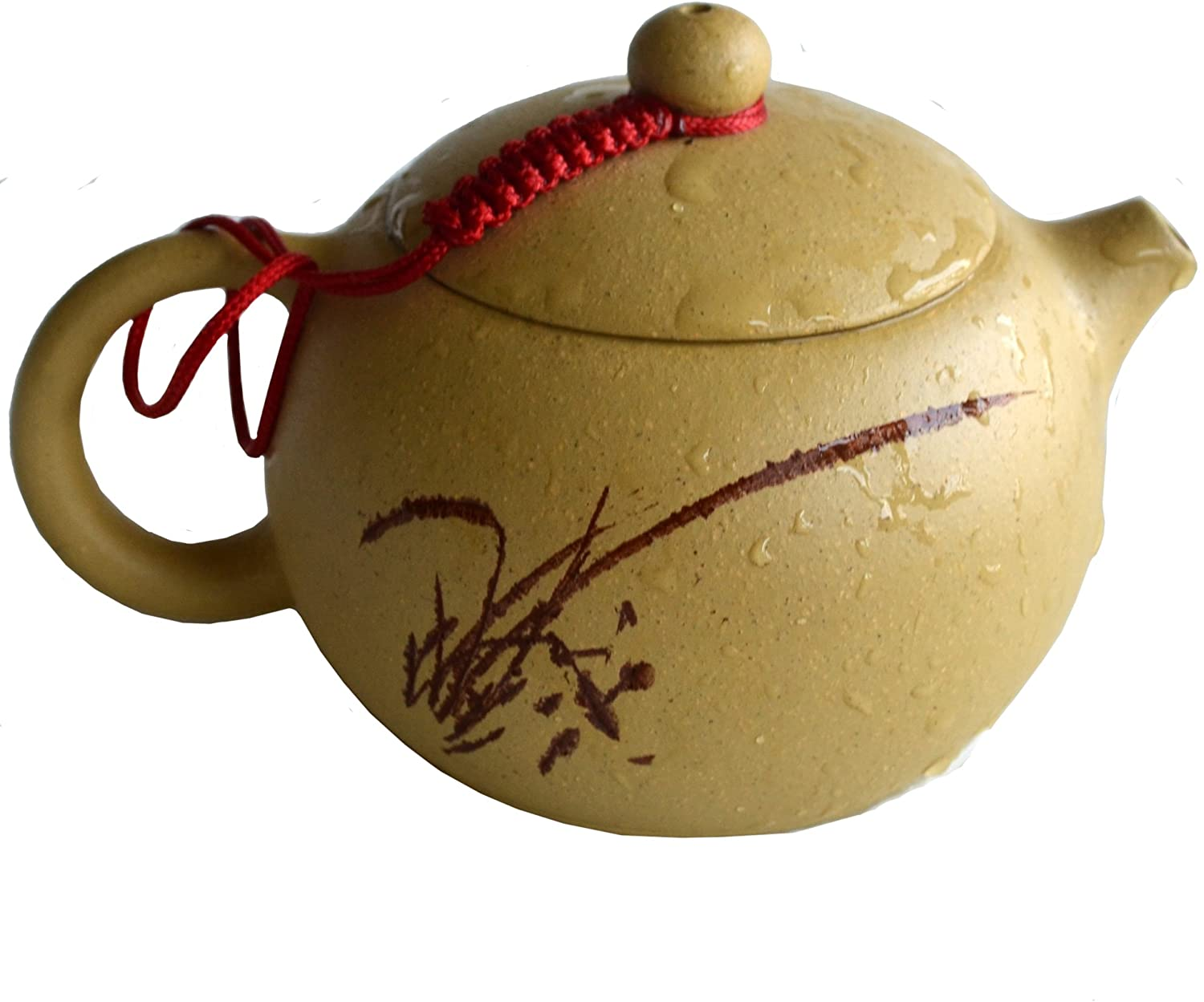 Teapot 9.5oz/280ml Chinese Yixing Yellow Zisha Tea Pots Xshi Huanduan Mud