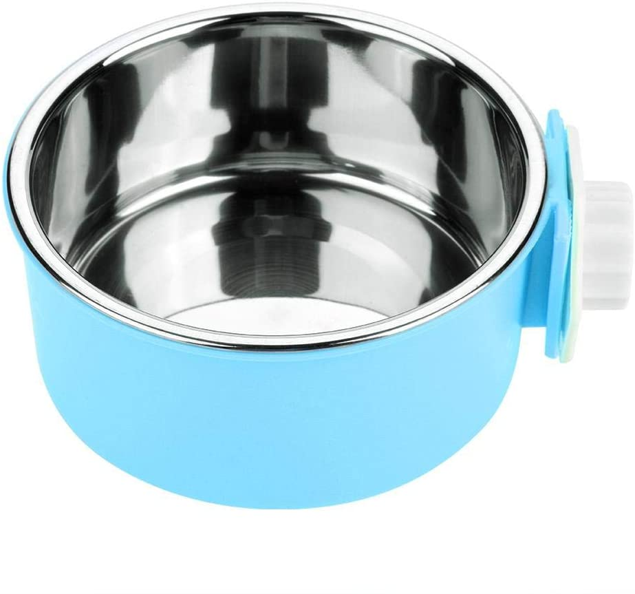 Pet Food Water Bowl Stainless Steel Dog Bowl Cat Dish Pet Food Water Bowl Pet Food Water Bowl with Removable Dish