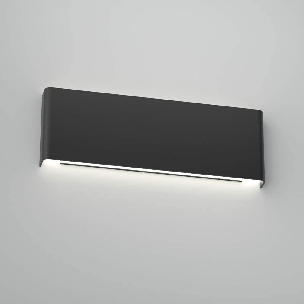 Aipsun 15.75in Matte Black Modern Vanity Light Up and Down LED Vanity Light for Bathroom Wall Lighting Fixtures (White Light 5000K)