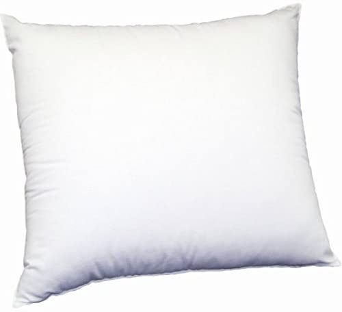 MoonRest Square Premium Hypoallergenic Polyester Microfiber Stuffer Pillow Insert Form for Decorative Throw Pillow, Cushion Cover with Hidden Zipper for Couch Bed Sofa, Solid Soft 14 X 14