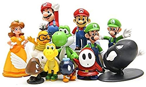 ADMI Game Toys Cake Topper Figures Toy Set ,Kids Birthday Party Cake Decoration Supplies,Decorations, Collectibles, Christmas, Decorations Ornaments (12 pcs)