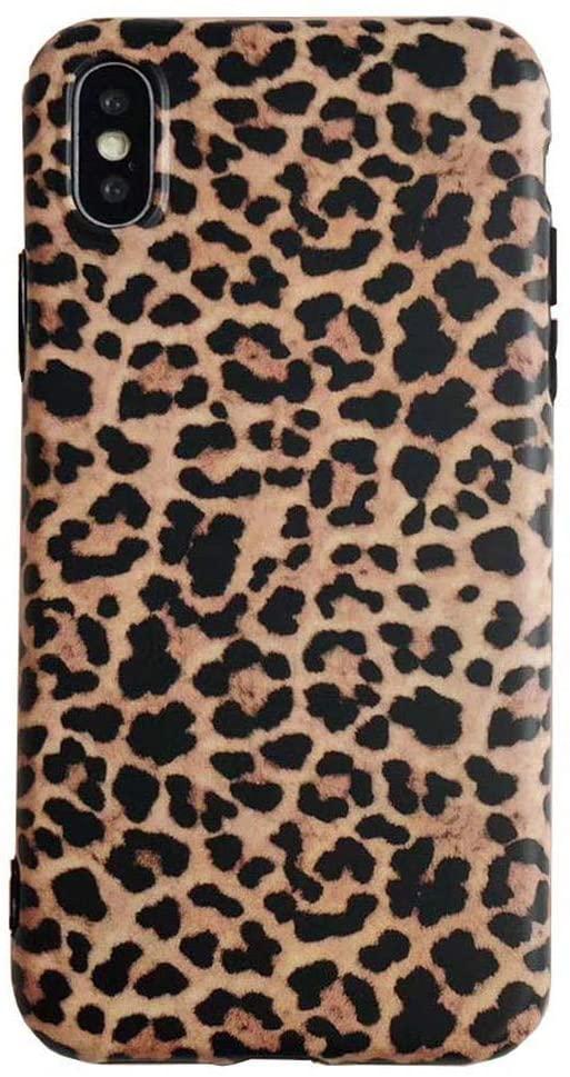 iPhone Xs Case,Easeu Women's Leopard iPhone X Case, Stylish Soft TPU Anti-Shock Super Slim Back Cover Case for iPhone X/iPhone Xs 5.8 inch