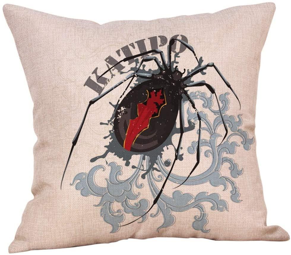 FZAI Halloween Pillow Covers Halloween Pillow Case Throw Pillow Cover Decorative Trick or Treat Cushion Case Square Throw Pillow Case Linen Cushion Cover Home Sofa Decor Halloween Easter Gifts