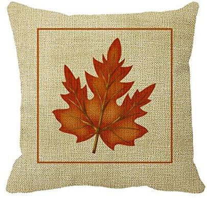 Smity 106 Pillowcase Orange Leaf Fall Season Themed Outdoor Pillow Cover for Sofa or Bedroom