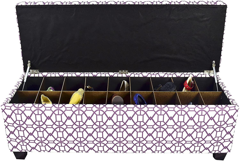 MJL Furniture Designs Medium Upholstered Storage Button Tufted Ottoman, 50