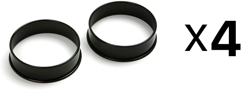 Norpro Set of 2 Nonstick Egg Rings, 3.5 Inch Diameter (Pack of 4)