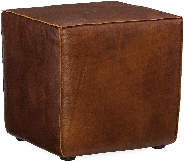 Hooker Furniture Quebert Cube Leather Ottoman