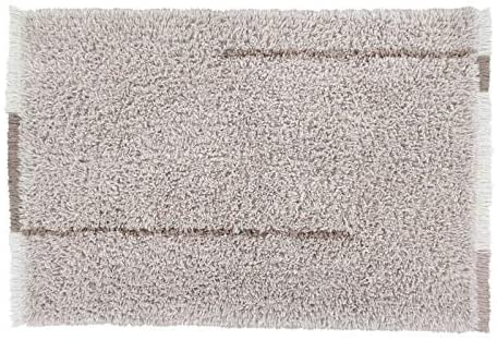 Lorena Canals -WOOLABLE- Washable Wool Rug Spring Spirit -Rose, Natural, Light Brown- Pile: 100% Wool   Base: Recycled Cotton 5' 7