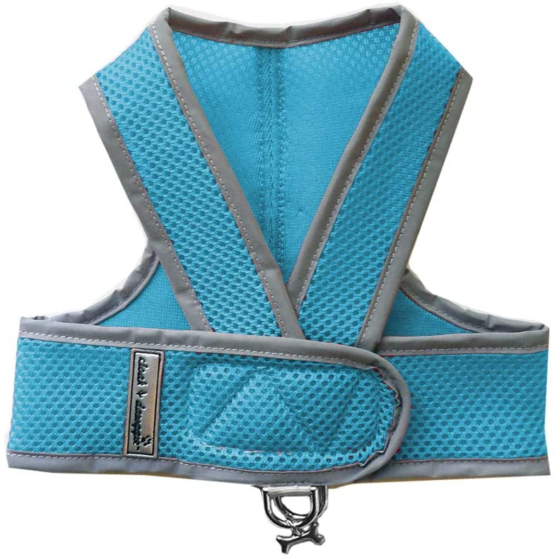 Cloak & Dawggie Mesh Step-N-Go Small Dog Harness Step in Teacup to 25 LBS. Vest Easy On Adjustable. XXXS XSmall Toy Puppies to Medium. Reflective Soft Walking Doggy Wrap Vest