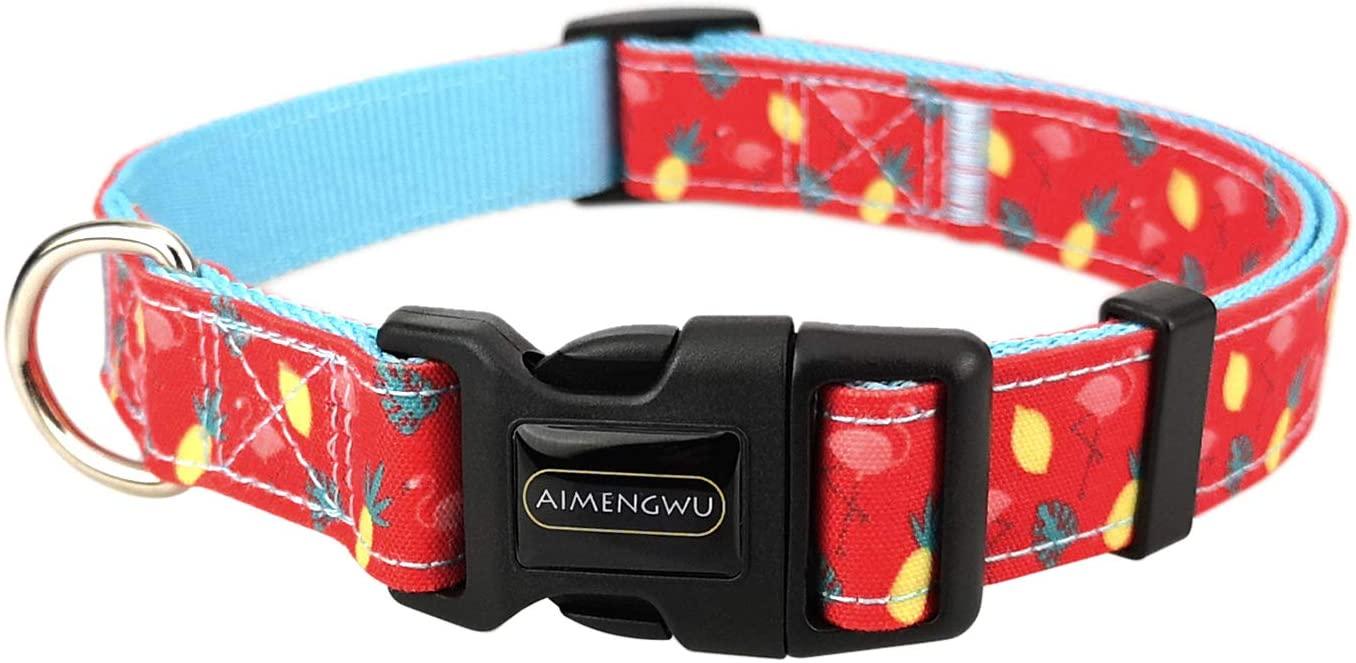 AIMENGWU Adjustable Flamingo Different Sizes Dog Collar