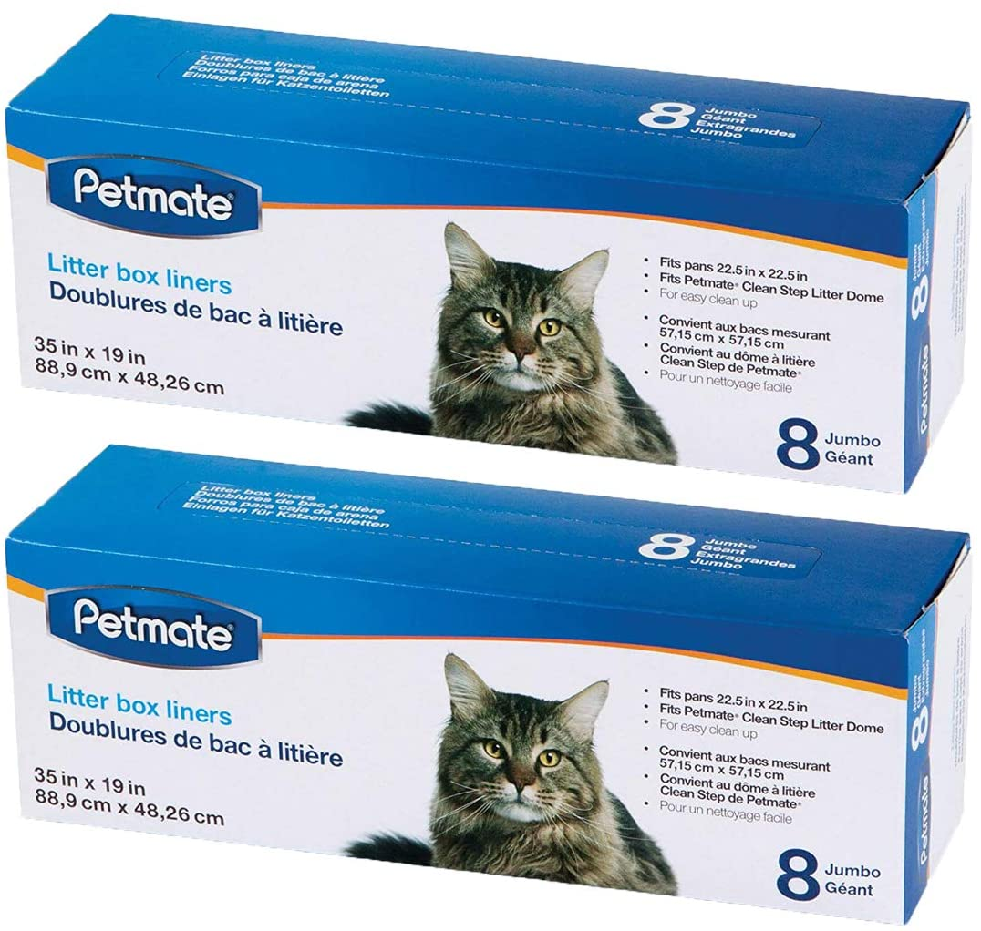 Petmate Cleanstep Litter Box Liners, Jumbo, 8 Count