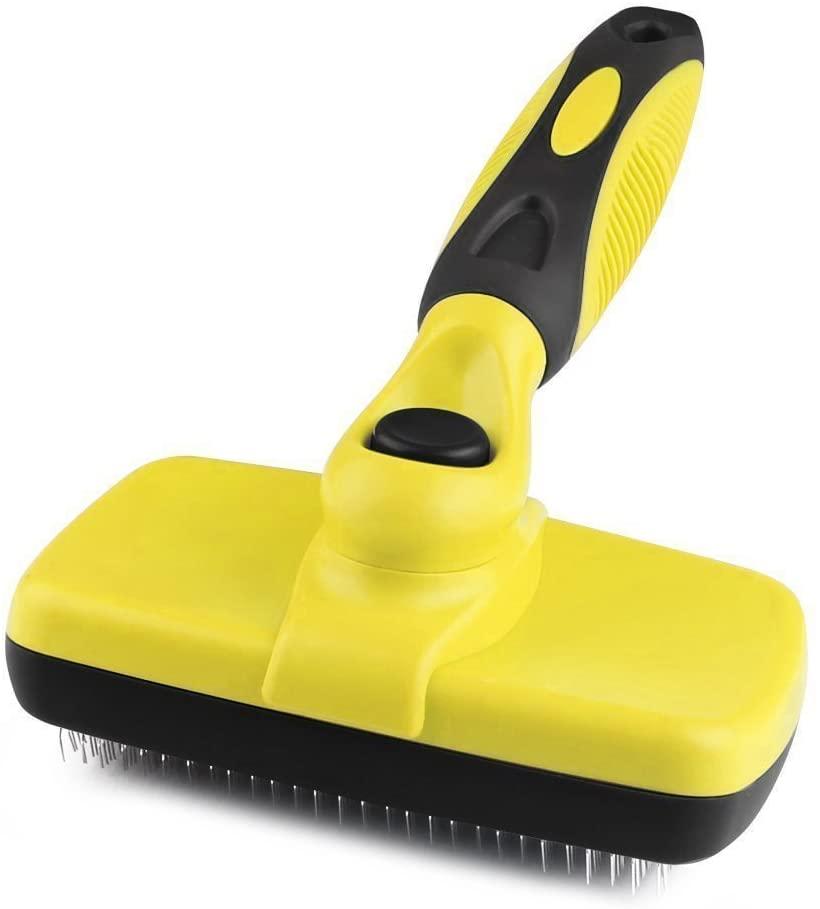 Peteola Self Cleaning Slicker Brush - Pet Dog Cat Grooming Brush - Mats and Tangled Hair - Cat & Dog Brushes for Grooming - Cat & Dog Brush and Comb - Suitable for Long or Short Hair