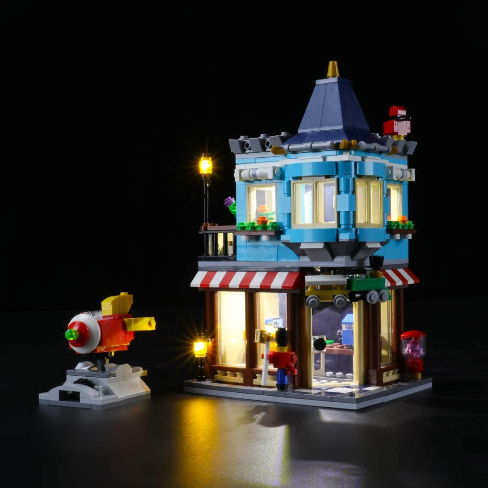 LIGHTAILING Light Set for (Creator Townhouse Toy Store) Building Blocks Model - Led Light kit Compatible with Lego 31105(NOT Included The Model)