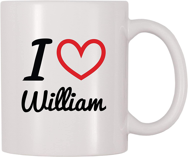 4 All Times I Love William Personalized Name Coffee Mug (11 oz)
