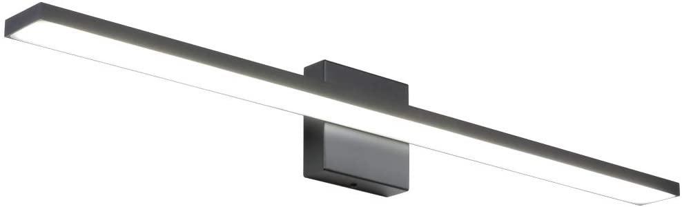 Ralbay 31.5inch Modern LED Black Vanity Light 28W Aluminum Frosted Acrylic for Bathroom Vanity Lighting Fixtures Cool White 6000K