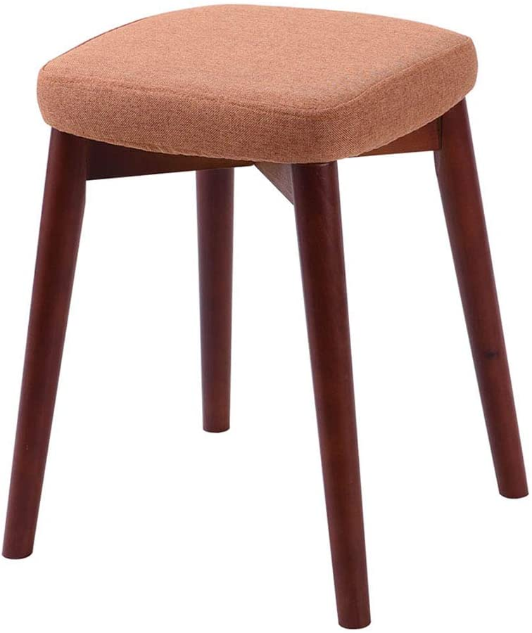 ZENGAI Dining Stool Wooden Bench Makeup Solid Wood Adult Small Chair Creative Fashion, 12 Colors (Color : M, Size : 33x33x46cm)
