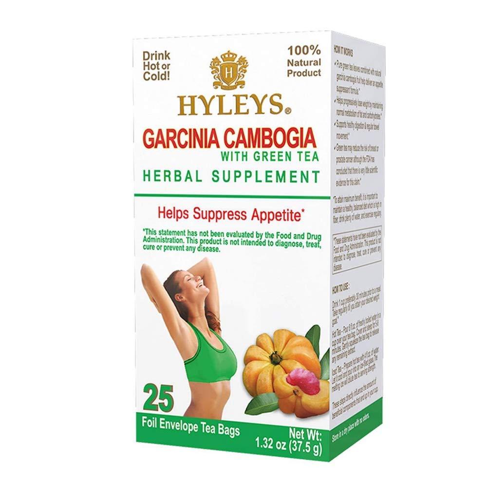 12 Pack - Hyleys Wellness Garcinia Cambogia Green Tea - 25 bagss (100% Natural, Sugar Free, Gluten Free and Non-GMO)