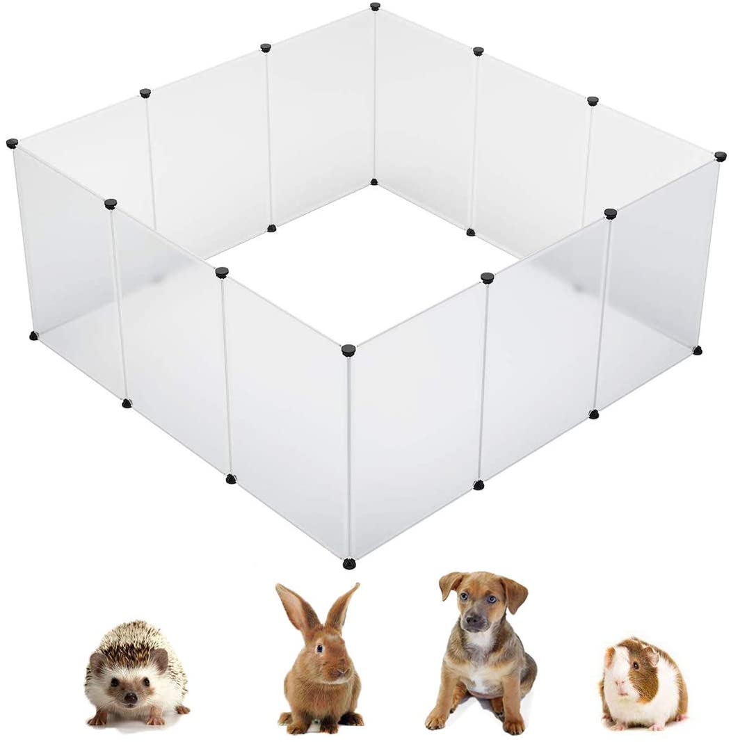KOUSI Small Animal Pen Indoor Fence Animal Pen Plastic Fence Large Dog Pen Plastic Play Yard Plastic Dog Pen Rabbit Pen Small Pet Playpen