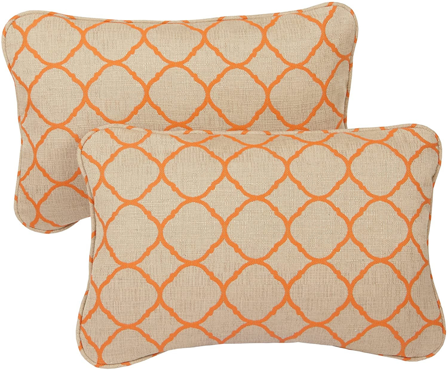 Mozaic Company Sunbrella Indoor/ Outdoor 13 by 20-inch Corded Pillow, Accord Koi, Set of 2
