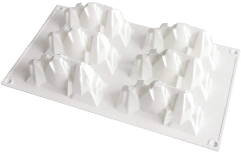minansostey 6 Cavity Iceberg Silicone Mold Fondant Mousse Cake Chocolate Decorating Sugarcraft Mould Baking Tool