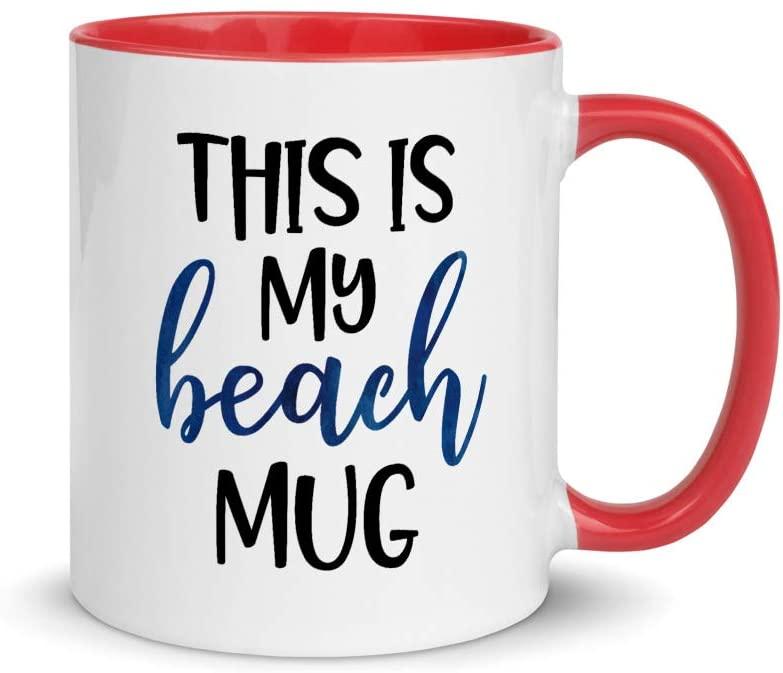 This Is My Beach Mug Cute Beach Vacation Color Coffee & Tea Mug | Beach Vacation Mug | Family Vacation | Summer Vacation | Beach House Mug | Housewarming Gift | Gift For Homeowner | Beach Gift (11oz)