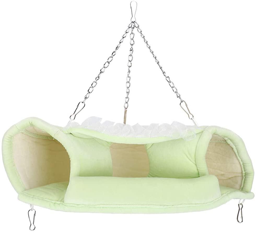 SH-RuiDu Pet Tunnel Winter Keep Warm Hammock Hanging Bed Washable for Small Animals Sugar Glider Hamster
