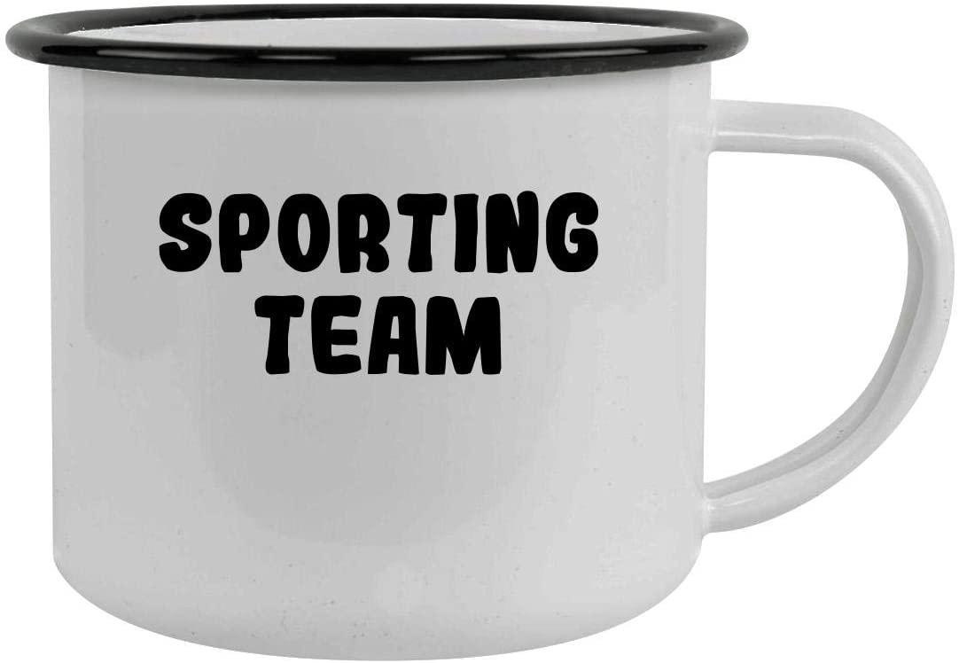 Sporting Team - 12oz Stainless Steel Camping Mug, Black