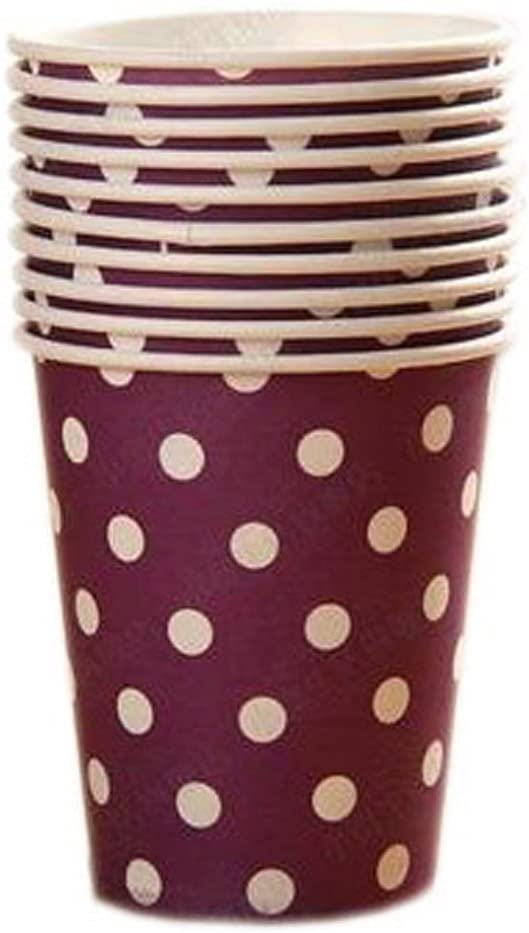 Blancho Bedding 20 Count 9-OZ(250 ML) Disposable Paper Cups Party Supplies Drinking/Picnic/Barbecue Cups, Purple #2