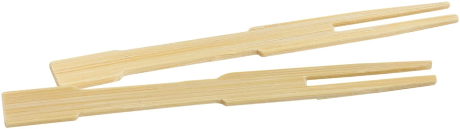 Helen's Asian Kitchen Mini Bamboo Appetizer Cocktail Forks and Buffet Party Fruit Picks, 3.5-Inches, 72-Pieces