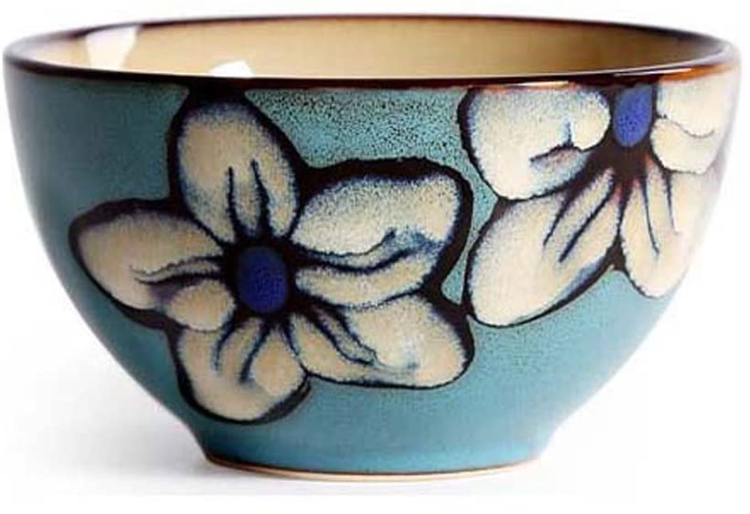 4.5inch Creative Ceramic Bowl, Japanese-style Tableware Hand-painted Bowls Home Rice Dessert Bowl
