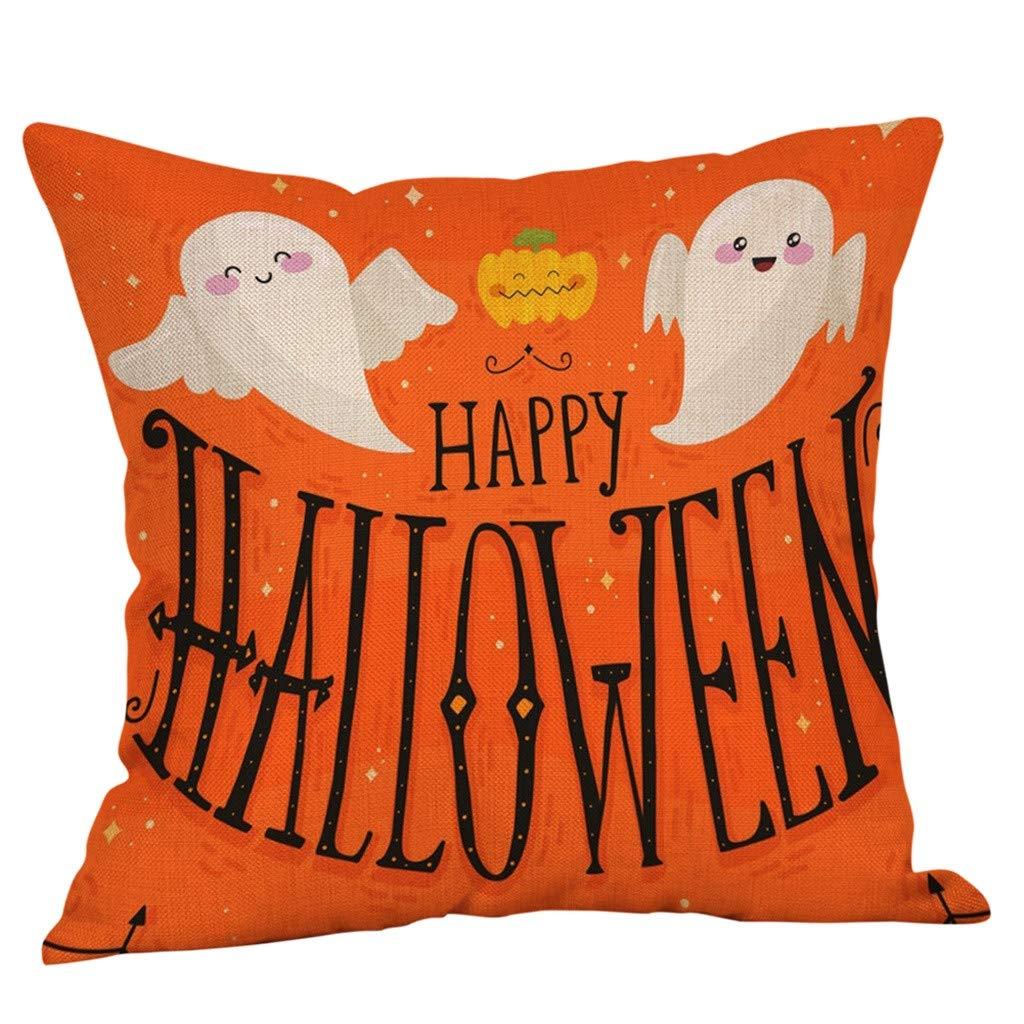FatCat Wall Graphics Pumpkin Halloween Decorative Throw Pillow Covers Set,General Pillow SizeE