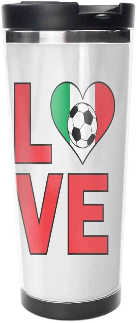 Love Italy Coffee Mugs 18 Oz Engagement Gift Tea Cup.Travel Coffee Cup,Drinking Cup, Female Male,Double stainless steel vacuum insulation,Thermos cup-511ML