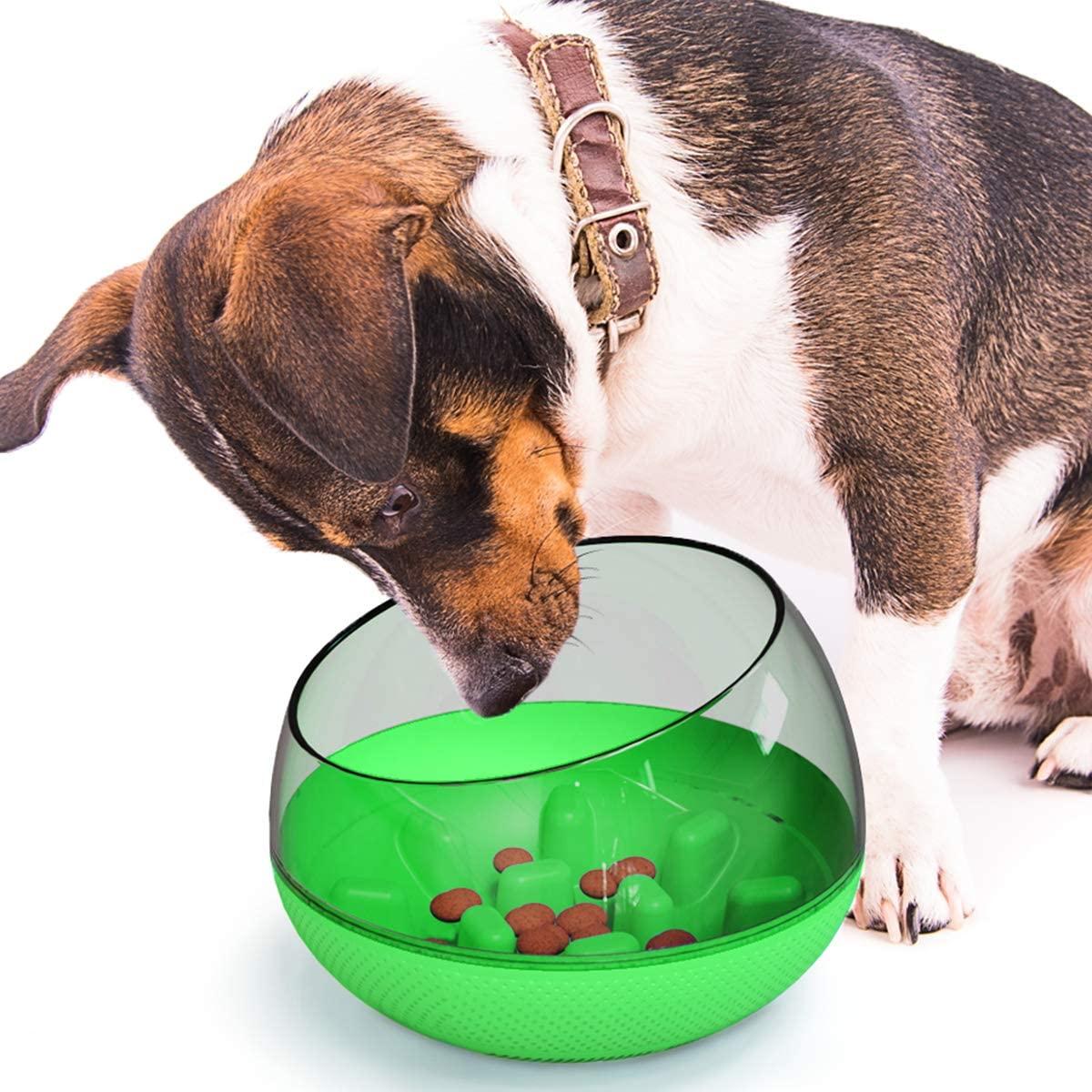 Xiaoai Pet Bowls Dog Bowls Slow Feeder, Fun Tumbler Feeder Dog Bowl Eco-Friendly Durable Non-Toxic