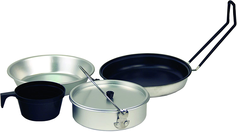 Texsport Five-Piece Non-Stick Aluminum Mess Kit