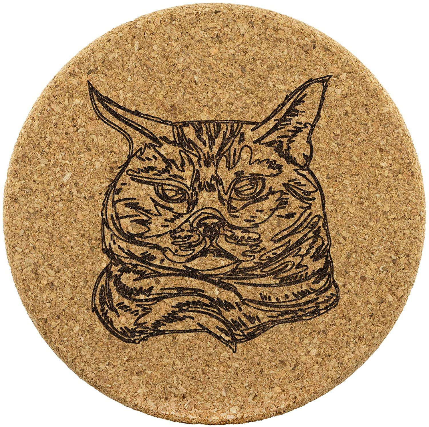 American Shorthair Cat Cork Coasters, Set of 4, Gifts for Cat Lovers 9184