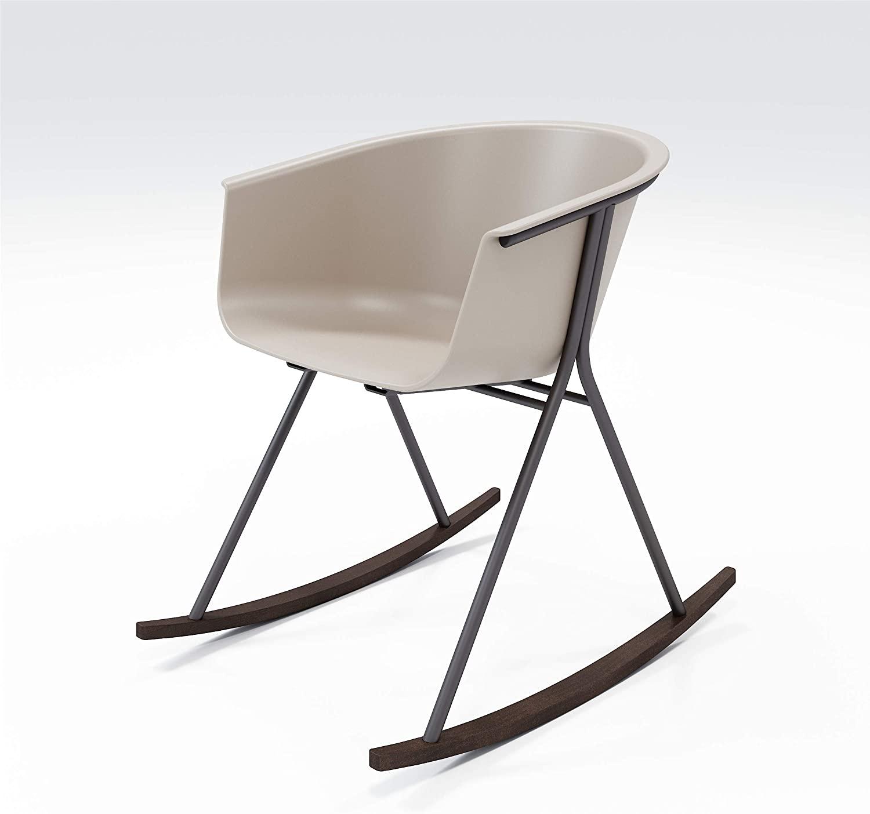 Olio Designs Series Tee Rocking Dining Chair, Black Coffee