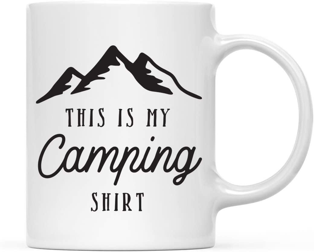 Andaz Press 11oz. Adventure Coffee Mug Gift, This is My Camping Shirt, 1-Pack, Birthday Christmas Gift Ideas