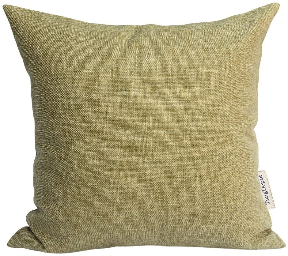 TangDepot Heavy Lined Linen Cushion Cover, Throw Pillow Cover, Euro Shams, European Throw Pillow Covers, Indoor/Outdoor - (24